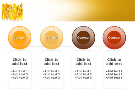 Orange Alphabet PowerPoint Template Slide 5