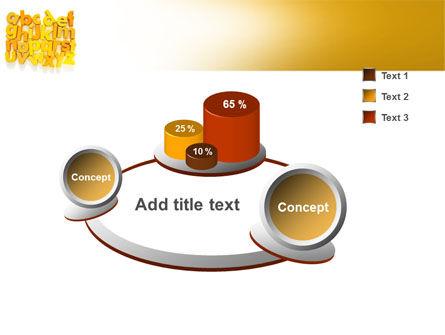 Orange Alphabet PowerPoint Template Slide 6