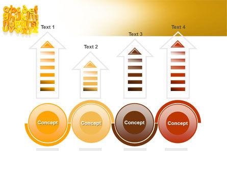 Orange Alphabet PowerPoint Template Slide 7