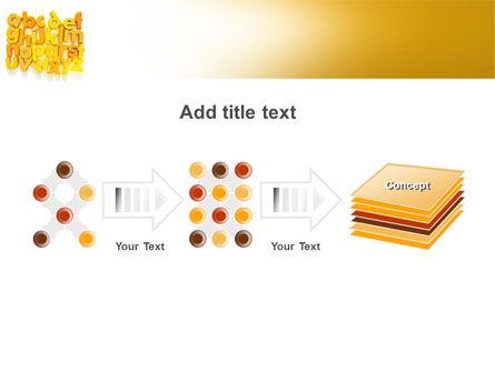 Orange Alphabet PowerPoint Template Slide 9