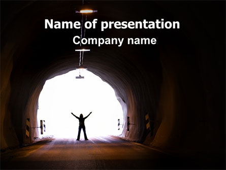 Exit From Tunnel PowerPoint Template, 06419, Business Concepts — PoweredTemplate.com