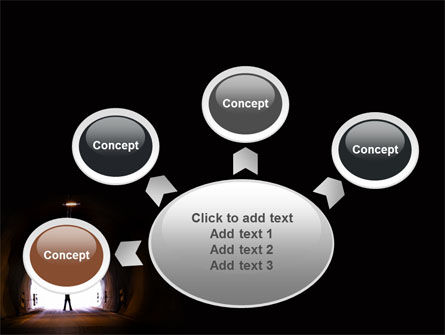 Exit From Tunnel PowerPoint Template Slide 7