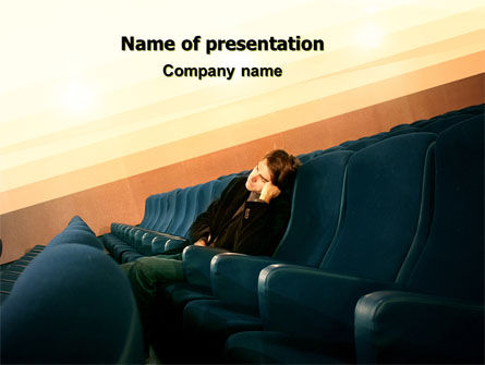 Boring Movie PowerPoint Template, 06420, Consulting — PoweredTemplate.com