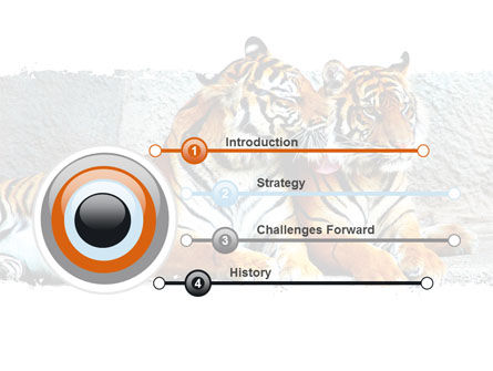 Tigers PowerPoint Template, Slide 3, 06421, Animals and Pets — PoweredTemplate.com