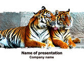 Animals and Pets: Tigers PowerPoint Template #06421