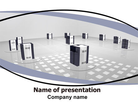 Computers: Computer Node PowerPoint Template #06423