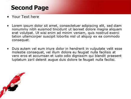 Red Dress Fashion Girl PowerPoint Template, Slide 2, 06425, People — PoweredTemplate.com