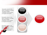 Red Dress Fashion Girl PowerPoint Template#11