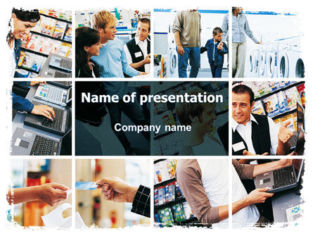 Consulting: Electrical Appliance Retail Trade PowerPoint Template #06427