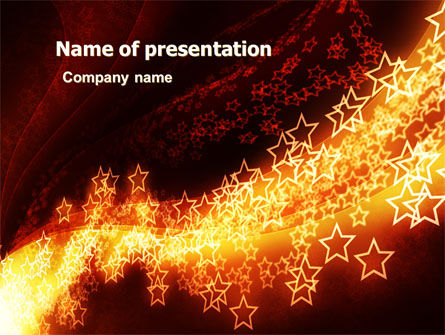 Abstract/Textures: Abstract Red Stars PowerPoint Template #06428