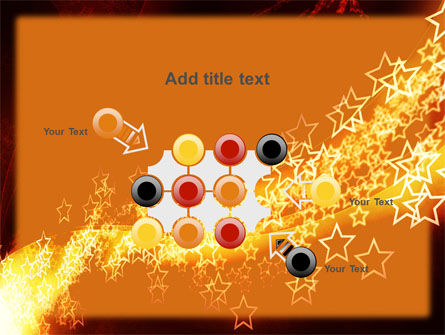 Abstract Red Stars PowerPoint Template Slide 10