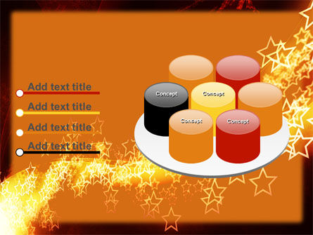 Abstract Red Stars PowerPoint Template Slide 12