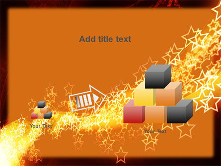 Abstract Red Stars PowerPoint Template Slide 13