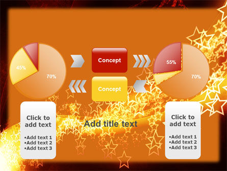 Abstract Red Stars PowerPoint Template Slide 16