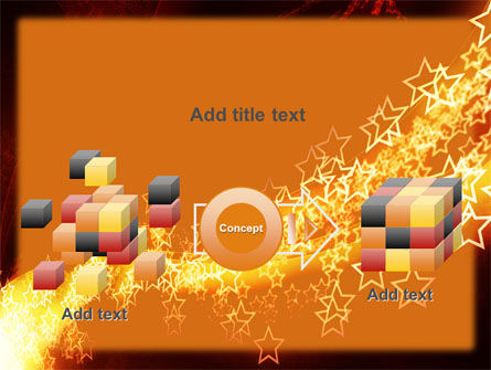 Abstract Red Stars PowerPoint Template Slide 17