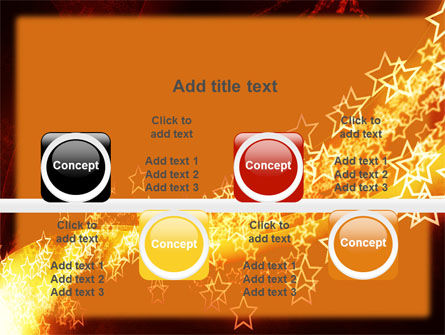 Abstract Red Stars PowerPoint Template Slide 18
