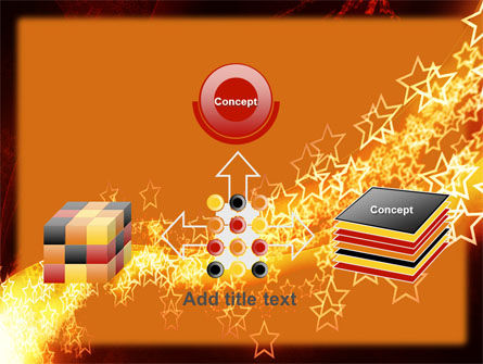 Abstract Red Stars PowerPoint Template Slide 19