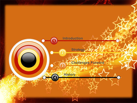 Abstract Red Stars PowerPoint Template Slide 3