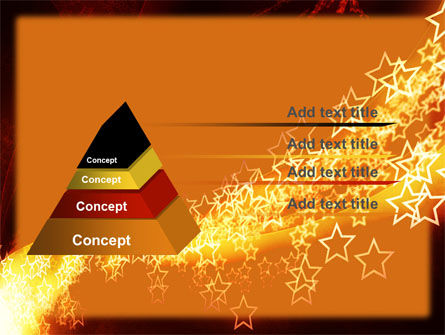Abstract Red Stars PowerPoint Template Slide 4