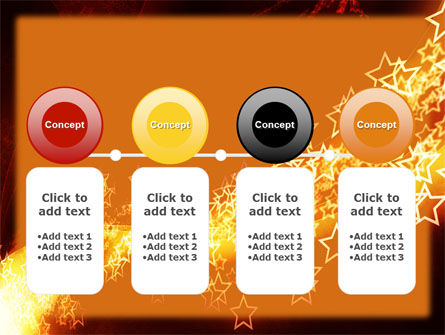 Abstract Red Stars PowerPoint Template Slide 5