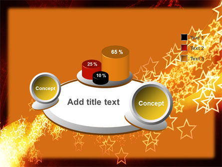 Abstract Red Stars PowerPoint Template Slide 6