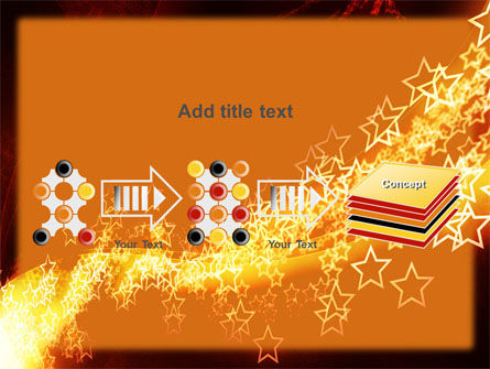 Abstract Red Stars PowerPoint Template Slide 9