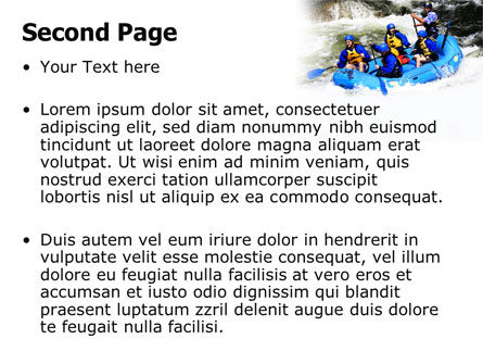 Whitewater Rafting PowerPoint Template Slide 2