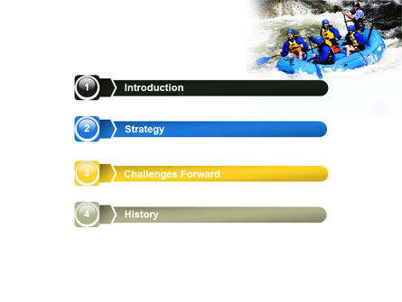 Whitewater Rafting PowerPoint Template, Slide 3, 06429, Sports — PoweredTemplate.com
