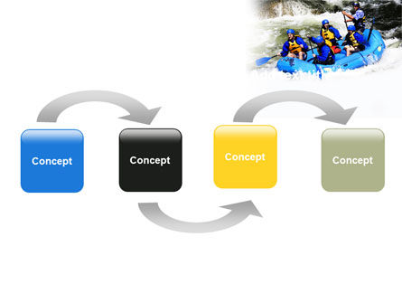 Whitewater Rafting PowerPoint Template, Slide 4, 06429, Sports — PoweredTemplate.com