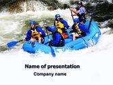 Sports: Templat PowerPoint Arung Jeram #06429