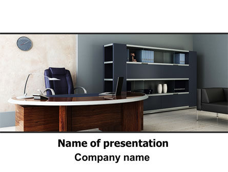 Top Manager's Office PowerPoint Template, 06432, Business — PoweredTemplate.com