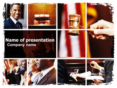 Judge PowerPoint Template, 06434, Legal — PoweredTemplate.com