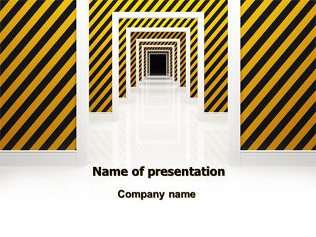 Dangerous Path PowerPoint Template, 06435, Business Concepts — PoweredTemplate.com
