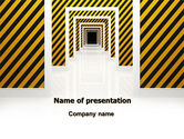 Business Concepts: Dangerous Path PowerPoint Template #06435
