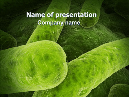 Bacilli In Green Color PowerPoint Template, 06436, Medical — PoweredTemplate.com