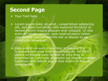Bacilli In Green Color PowerPoint Template, Slide 2, 06436, Medical — PoweredTemplate.com