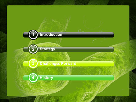 Bacilli In Green Color PowerPoint Template, Slide 3, 06436, Medical — PoweredTemplate.com