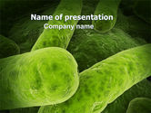 Medical: Bacilli In Green Color PowerPoint Template #06436