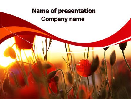 Nature & Environment: Poppies PowerPoint Template #06440