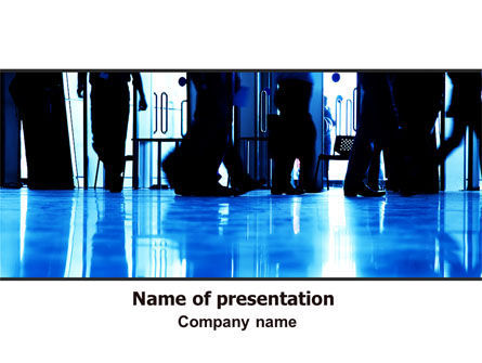 Business: Walking People PowerPoint Template #06444