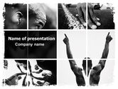 Sports: Black Athlete PowerPoint Template #06445