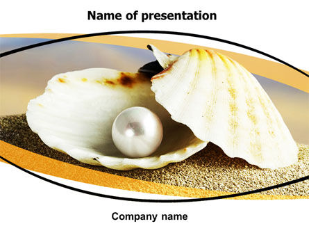Careers/Industry: Pearl Shell PowerPoint Template #06446