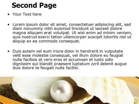 Pearl Shell PowerPoint Template Slide 2