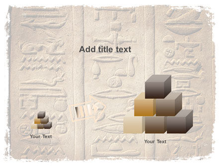 Egyptian Petroglyphs PowerPoint Template Slide 13