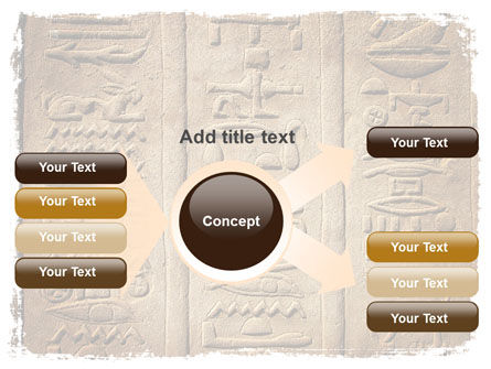Egyptian Petroglyphs PowerPoint Template Slide 15
