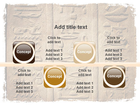 Egyptian Petroglyphs PowerPoint Template Slide 18