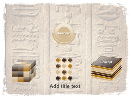 Egyptian Petroglyphs PowerPoint Template Slide 19