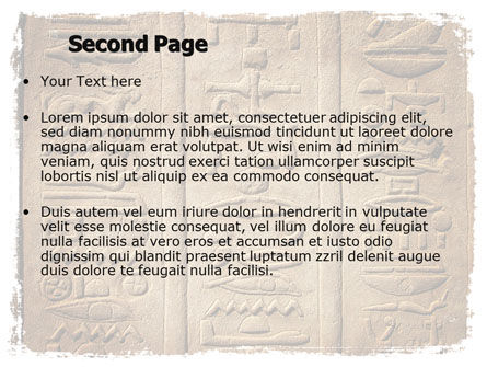 Egyptian Petroglyphs PowerPoint Template, Slide 2, 06448, Education & Training — PoweredTemplate.com