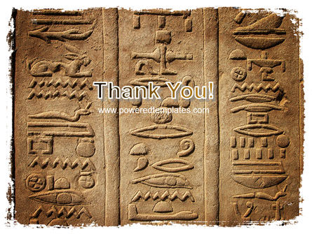 Egyptian Petroglyphs PowerPoint Template Slide 20