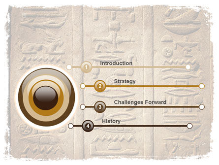 Egyptian Petroglyphs PowerPoint Template, Slide 3, 06448, Education & Training — PoweredTemplate.com